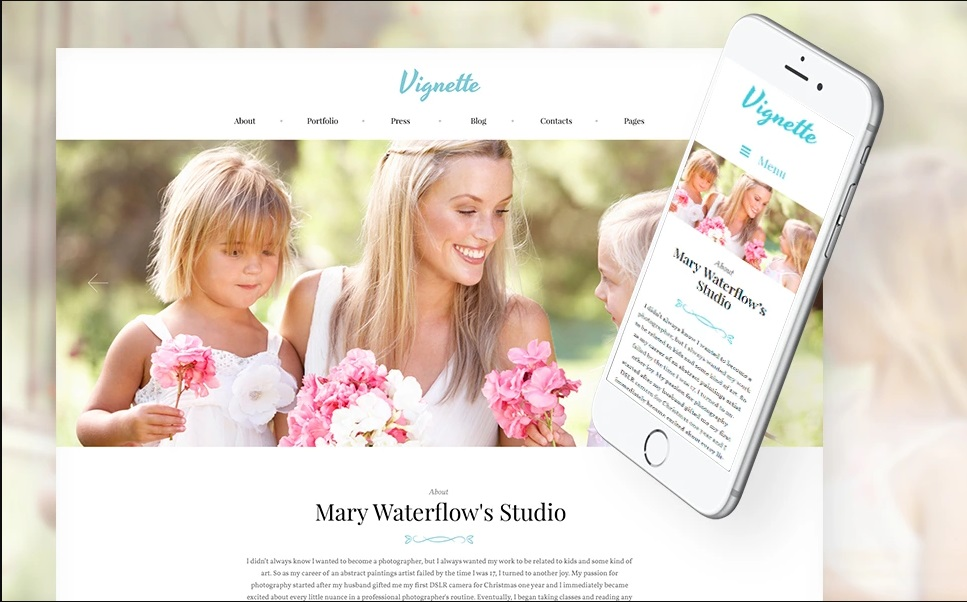 Vignette - Family Photographer and Portfolio WordPress Theme