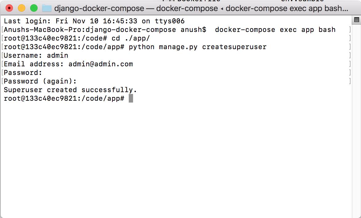 Development Environment for Django in Docker Compose