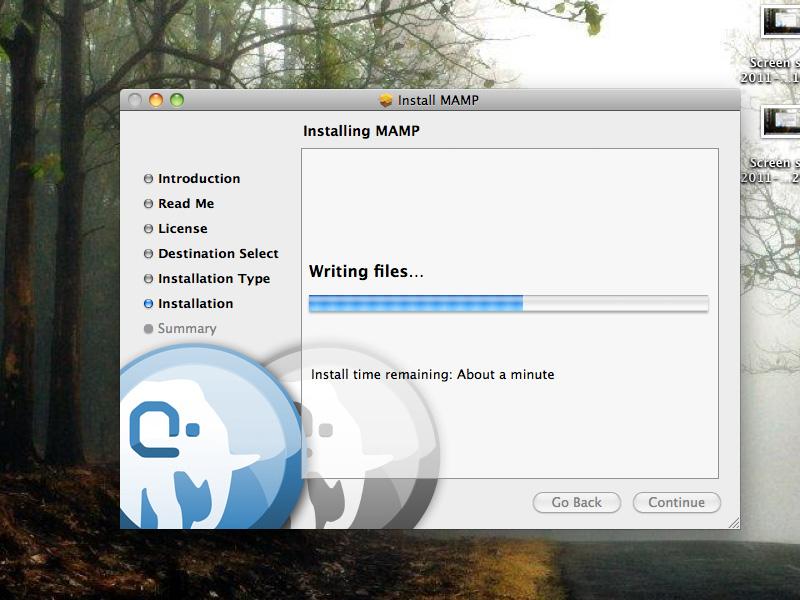 setup a test server in MAC