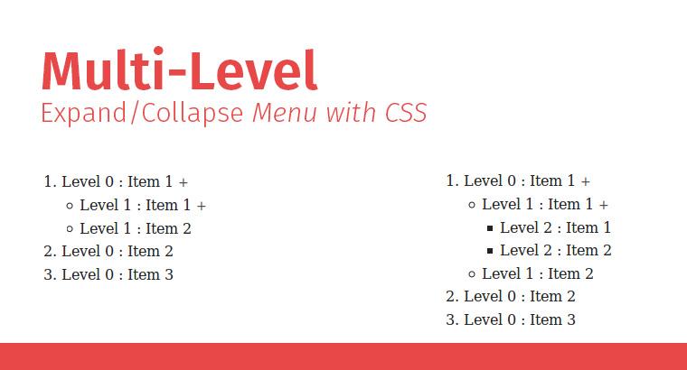 Multi-Level tree menu with CSS
