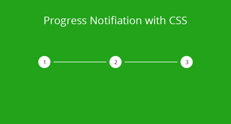 Progress Notification with CSS