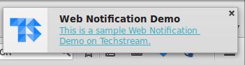 Push notification in Firefox