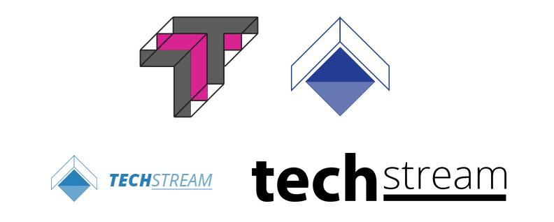 Tech Stream Logo Mockups