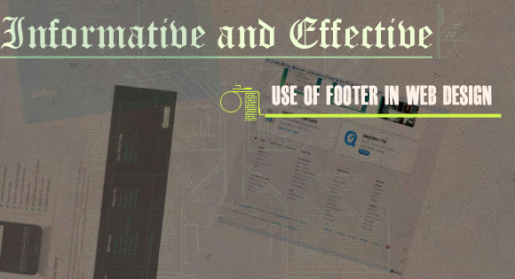 Informative and Effective use of Footer in Web Design
