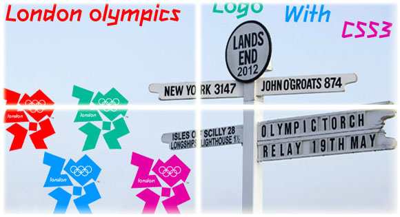 2012 London Olympics Logo with CSS3