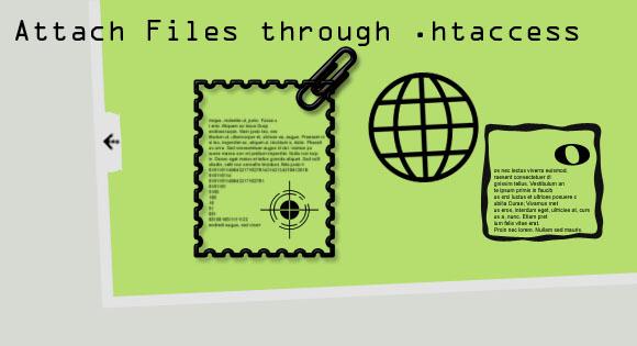 Attach Files through .htaccess